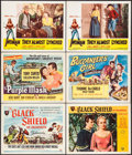 """Movie Posters:Adventure, The Black Shield of Falworth & Others Lot (UniversalInternational, 1954). Title Lobby Cards (3) & Lobby Cards (3)(11"""" X 14... (Total: 6 Items)"""