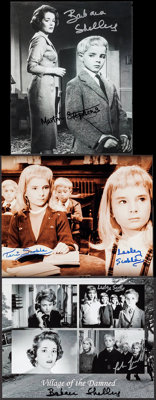"Village of the Damned Lot (2000s). Autographed Reproduction Photos (3) (8"" X 10""). Science Fiction. ... (Total..."