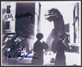 """Movie Posters:Science Fiction, The Beast from 20,000 Fathoms (1990s). Autographed ReproductionPhoto (8"""" X 10""""). Science Fiction.. ..."""