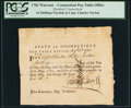 Colonial Notes:Connecticut, Connecticut Pay-Table Office 16 Shillings August 12, 1782.. ...
