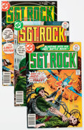 Modern Age (1980-Present):War, Sgt. Rock Group of 117 (DC, 1977-90) Condition: Average VF+.... (Total: 117 Comic Books)