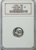 Proof Roosevelt Dimes, 1964 10C PR69 Ultra Cameo NGC. NGC Census: (211/0). PCGSPopulation: (307/2)....
