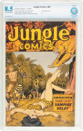 Golden Age (1938-1955):Adventure, Jungle Comics #83 (Fiction House, 1946) CBCS VF+ 8.5 Off-white to white pages....