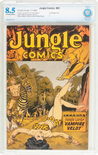 Jungle Comics #83 (Fiction House, 1946) CBCS VF+ 8.5 Off-white to white pages