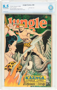 Jungle Comics #81 (Fiction House, 1946) CBCS VF+ 8.5 Cream to off-white pages