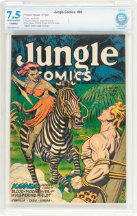 Jungle Comics #89 (Fiction House, 1947) CBCS VF- 7.5 Off-white to white pages