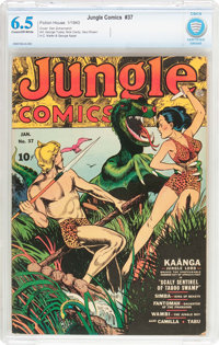 Jungle Comics #37 (Fiction House, 1943) CBCS FN+ 6.5 Cream to off-white pages