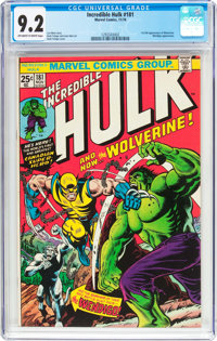 The Incredible Hulk #181 (Marvel, 1974) CGC NM- 9.2 Off-white to white pages