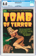 Golden Age (1938-1955):Horror, Tomb of Terror #7 (Harvey, 1953) CGC VF 8.0 Light tan to off-whitepages....