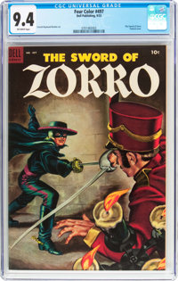 Four Color #497 The Sword of Zorro (Dell, 1953) CGC NM 9.4 Off-white pages