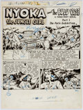 Original Comic Art:Splash Pages, Nyoka the Jungle Girl #41 Splash Page Original Art (FawcettComics, 1950)....