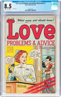 Golden Age (1938-1955):Romance, True Love Problems and Advice Illustrated #1 (Harvey, 1949) CGC VF+8.5 Cream to off-white pages....