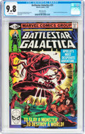 Modern Age (1980-Present):Science Fiction, Battlestar Galactica #21 White Mountain pedigree (Marvel, 1980) CGCNM/MT 9.8 White pages....