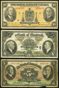 Canadian Currency: , A Trio of Canadian Chartered Bank Notes.. ... (Total: 3 notes)