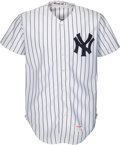 Baseball Collectibles:Uniforms, 1992 Mickey Mantle Fantasy Camp Worn New York Yankees Jersey....