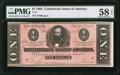 Confederate Notes:1864 Issues, T71 $1 1864 PF-1 Cr. 576.. ...