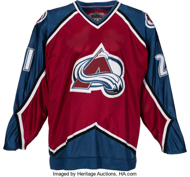 new style deb75 ae672 1995-96 Peter Forsberg Game Worn Colorado Avalanche Jersey ...