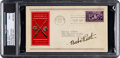 Baseball Collectibles:Others, 1939 Babe Ruth Signed Baseball Hall of Fame Grand Opening First DayCover, PSA/DNA Mint 9....
