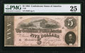 Confederate Notes:1864 Issues, T69 $5 1864 PF-1 Cr. 558.. ...