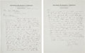 Baseball Collectibles:Others, 1922 Ty Cobb Handwritten Signed Two-Page Letter. ...