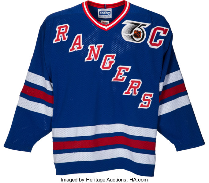 size 40 af87f 14efb 1991-92 Mark Messier Game Worn New York Rangers Jersey ...