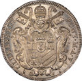 Italy:Papal States, Italy: Papal States. Clement XIII Testone (30 Baiocchi) 1763 AnnoVI MS67 NGC,...