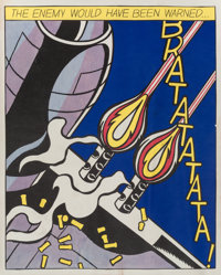 Roy Lichtenstein (American, 1923-1997) As I Opened Fire (triptych), 1966 The complete set of three o