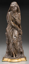 Sculpture, After Thomas Nelson Maclean (British, 1845-1894). Madonna Expectant. Patinated and gilt bronze. 17-3/8 inches (44.1 cm) ...