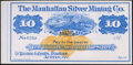 Obsoletes By State:Nevada, Austin, NV- Manhattan Silver Mining Co. $5 187_ . ...