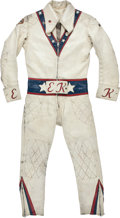 Miscellaneous Collectibles:General, 1972-73 Evel Knievel Motorcycle Leathers Worn in MultiplePerformances.. ...