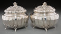 Silver Holloware, Continental, A Pair of Austro-Hungarian Silver Melon-Form Covered Sugar Bowls,Budapest, Hungary, circa 1872-1922. Marks: (3-Diana's head...(Total: 2 Items)