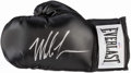 Autographs:Bats, Mike Tyson Signed Boxing Glove. ...