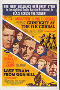 "Movie Posters:Western, Gunfight at the O.K. Corral/Last Train from Gun Hill Combo & Others Lot (Paramount, R-1963). One Sheets (3) (27"" X 41""). Wes... (Total: 3 Items)"