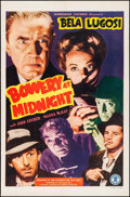 "Movie Posters:Horror, Bowery at Midnight (Monogram, 1942). One Sheet (27"" X 41"").Horror.. ..."