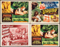 "Movie Posters:Adventure, Tarzan's Desert Mystery & Others Lot (RKO, R-1949). Lobby Cards(3) & Title Lobby Card (11"" X 14""). Adventure.. ... (Total: 4Items)"