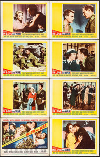 """In Love and War & Others Lot (20th Century Fox, 1958). Lobby Card Sets of 8 (2 Sets) (11"""" X 14""""), Color Ph..."""
