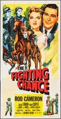 """Movie Posters:Sports, The Fighting Chance & Other Lot (Republic, 1955). Three Sheet (41"""" X 79"""") & Stock Poster (27"""" X 41""""). Sports.. ... (Total: 2 Items)"""