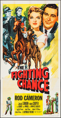 """The Fighting Chance & Other Lot (Republic, 1955). Three Sheet (41"""" X 79"""") & Stock Poster (27&q..."""