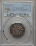 Italy:Naples, Italy: Naples. Charles II d'Anjou (1285-1309) Gigliato ND XF40 PCGS,...