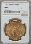 Mexico, Mexico: Estados Unidos gold 50 Pesos 1921 MS62 NGC, ...