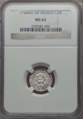 Mexico, Mexico: Philip V 1/2 Real 1738 Mo-MF MS62 NGC,...