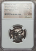 Ancients:Greek, Ancients: PHOENICIA. Tyre. 126/5 BC-AD 65/6. AR shekel (14.37gm).  NGC AU 4/5 - 5/5....