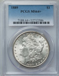 Morgan Dollars: , 1889 $1 MS64+ PCGS. PCGS Population: (12005/2585 and 278/119+). NGC Census: (16410/2340 and 121/26+). CDN: $72 Whsle. Bid f...