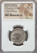 Ancients:Roman Provincial , Ancients: SYRIA. Antioch. Philip II as Caesar (AD 247-249). BItetradrachm (12.24 gm). NGC MS 4/5 - 3/5....