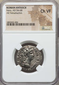 Ancients:Roman Provincial , Ancients: SYRIA. Antioch. Nero (AD 54-68). AR tetradrachm. NGCChoice VF....
