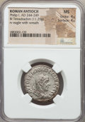 Ancients:Roman Provincial , Ancients: SYRIA. Antioch. Philip I (AD 244-249). BI tetradrachm(11.29 gm). NGC MS 4/5 - 4/5....