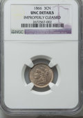 Three Cent Nickels: , 1866 3CN -- Improperly Cleaned -- NGC Details. UNC. NGC Census: (0/664). PCGS Population: (12/759). CDN: $78 Whsle. Bid for...