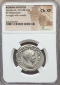Ancients:Roman Provincial , Ancients: SYRIA. Antioch. Gordian III (AD 238-244). BI tetradrachm.NGC Choice XF....