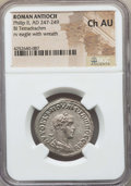 Ancients:Roman Provincial , Ancients: SYRIA. Antioch. Philip II (AD 247-249). BI tetradrachm.NGC Choice AU....