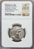 Ancients:Greek, Ancients: PHOENICIA. Tyre. 126/5 BC-AD 67/8. AR shekel (13.54 gm).NGC VF 4/5 - 3/5....